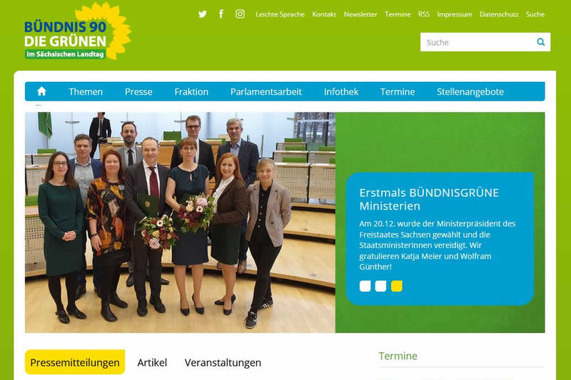 Screenshot Webseite am 06.02.2020